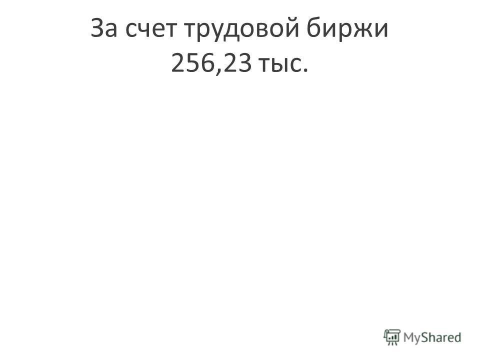 За счет трудовой биржи 256,23 тыс.