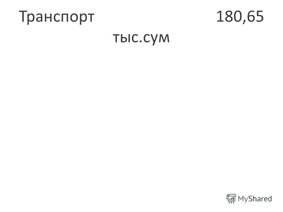 Транспорт 180,65 тыс.сум