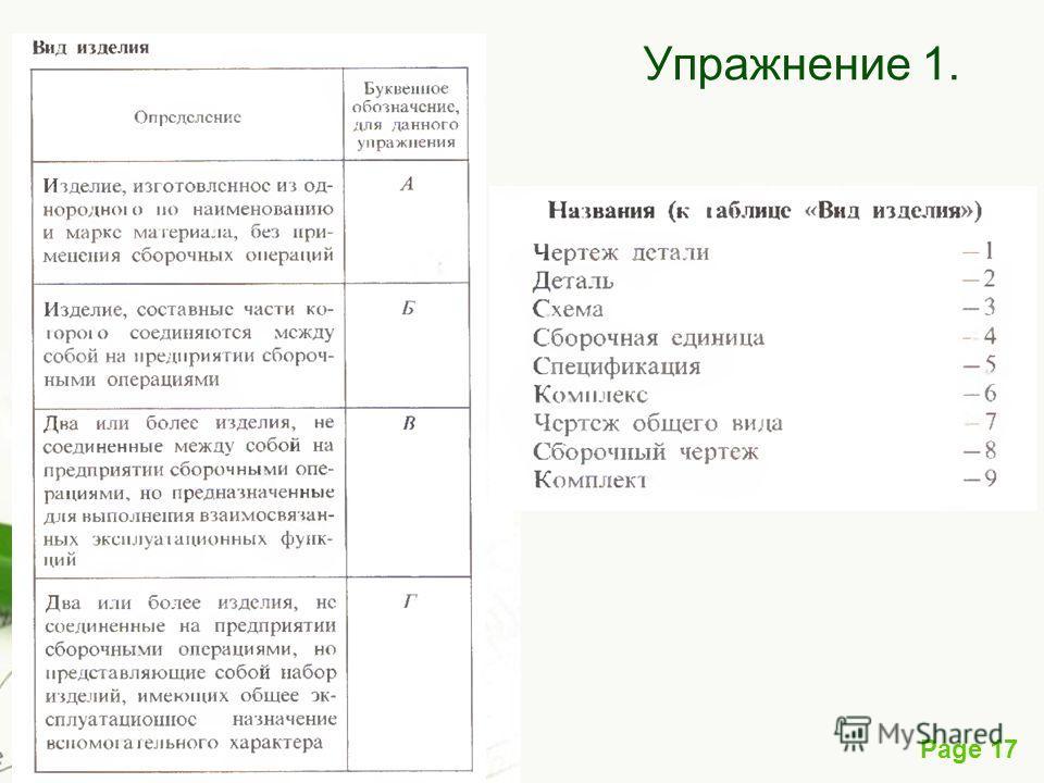 Page 17 Упражнение 1.