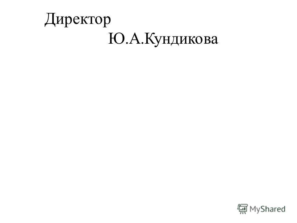 Директор Ю.А.Кундикова