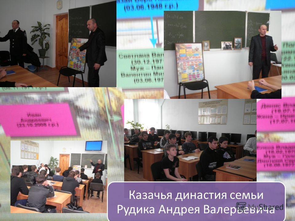 Казачья династия семьи Рудика Андрея Валерьевича