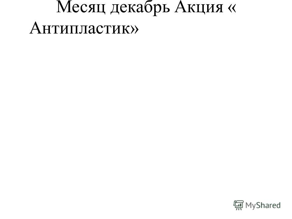 Месяц декабрь Акция « Антипластик»