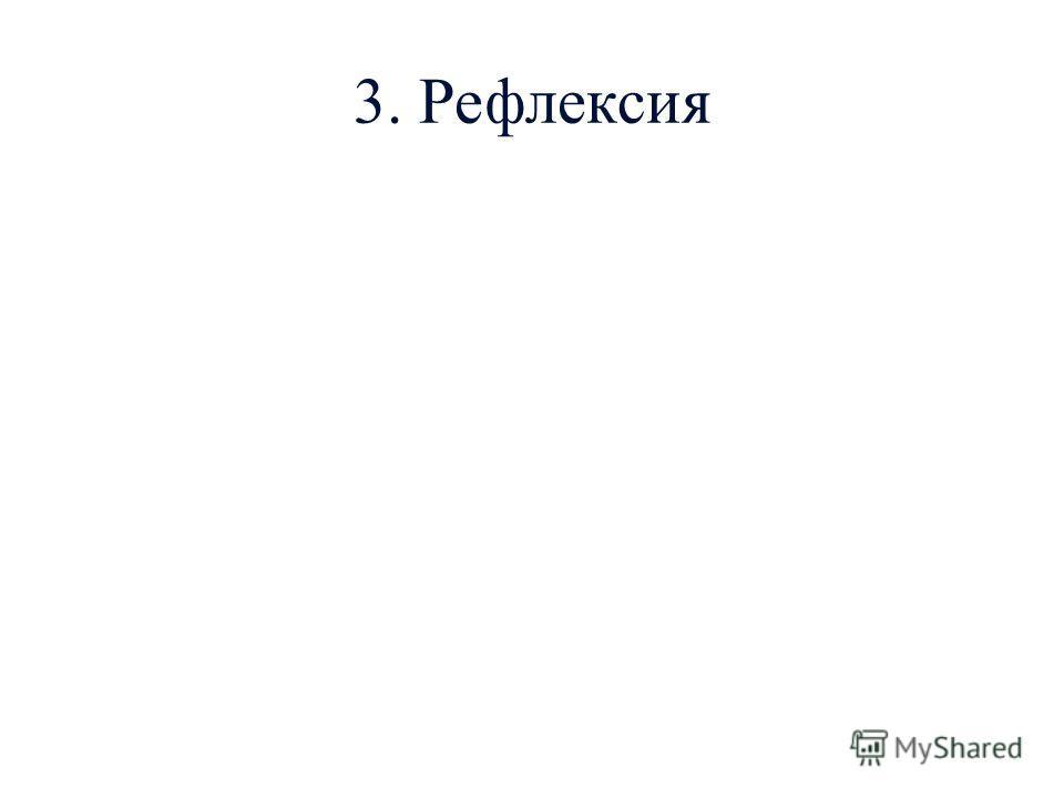 3. Рефлексия