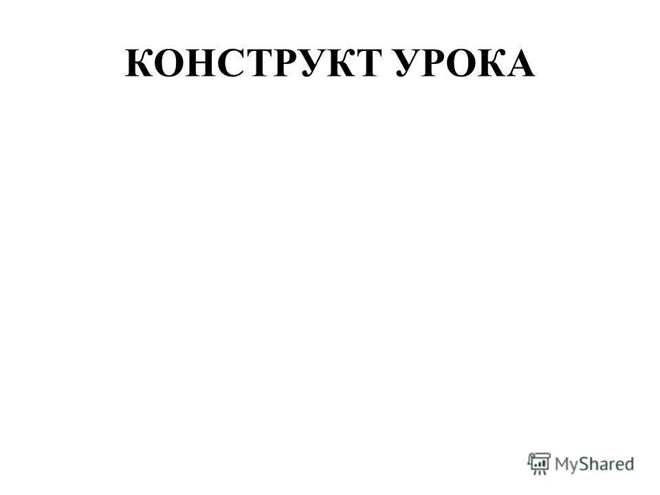 КОНСТРУКТ УРОКА