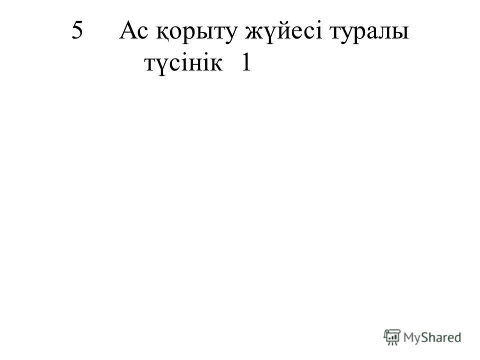 5Ас қорыту жүйесі туралы түсінік1