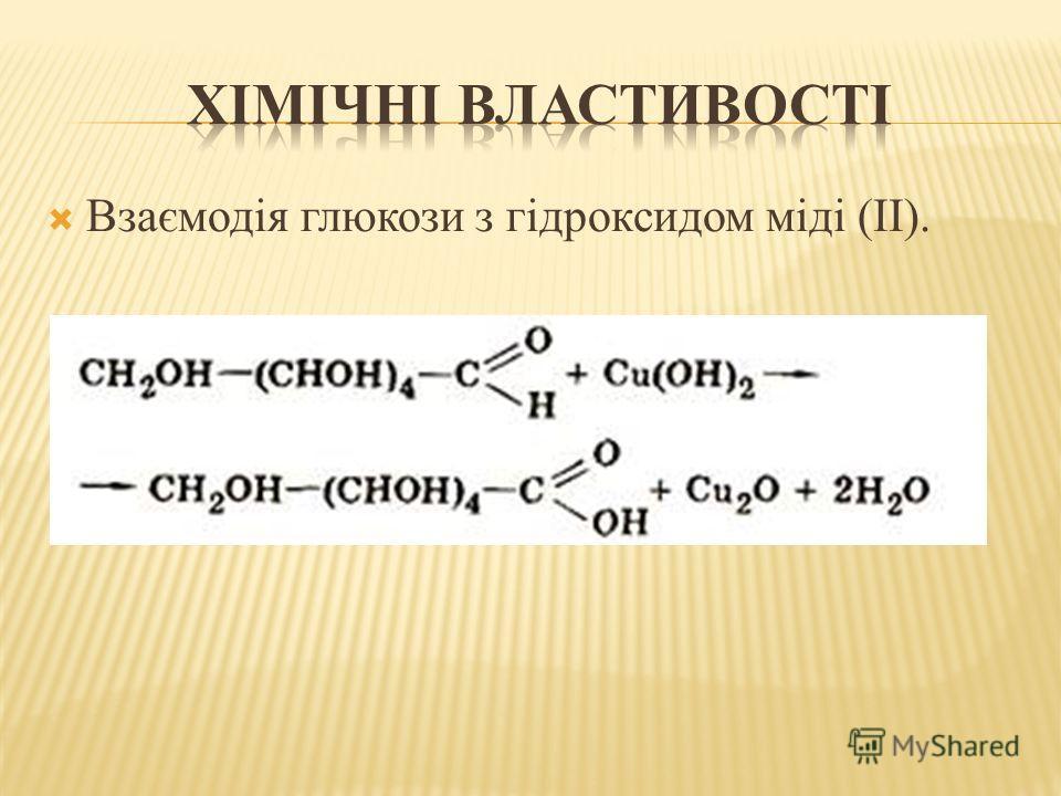 Взаємодія глюкози з гідроксидом міді (II).