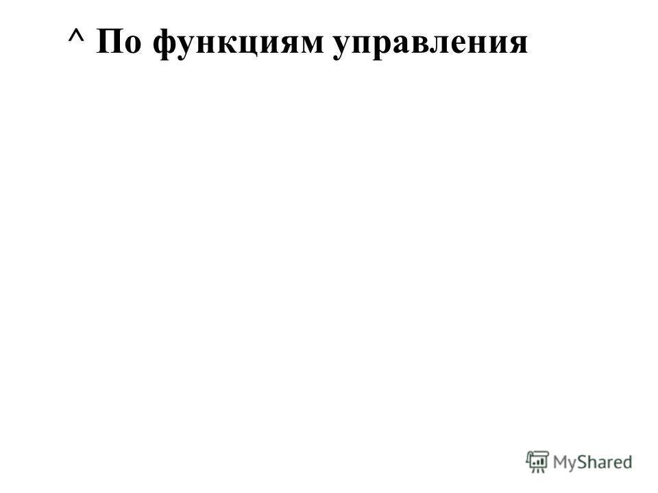 ^ По функциям управления