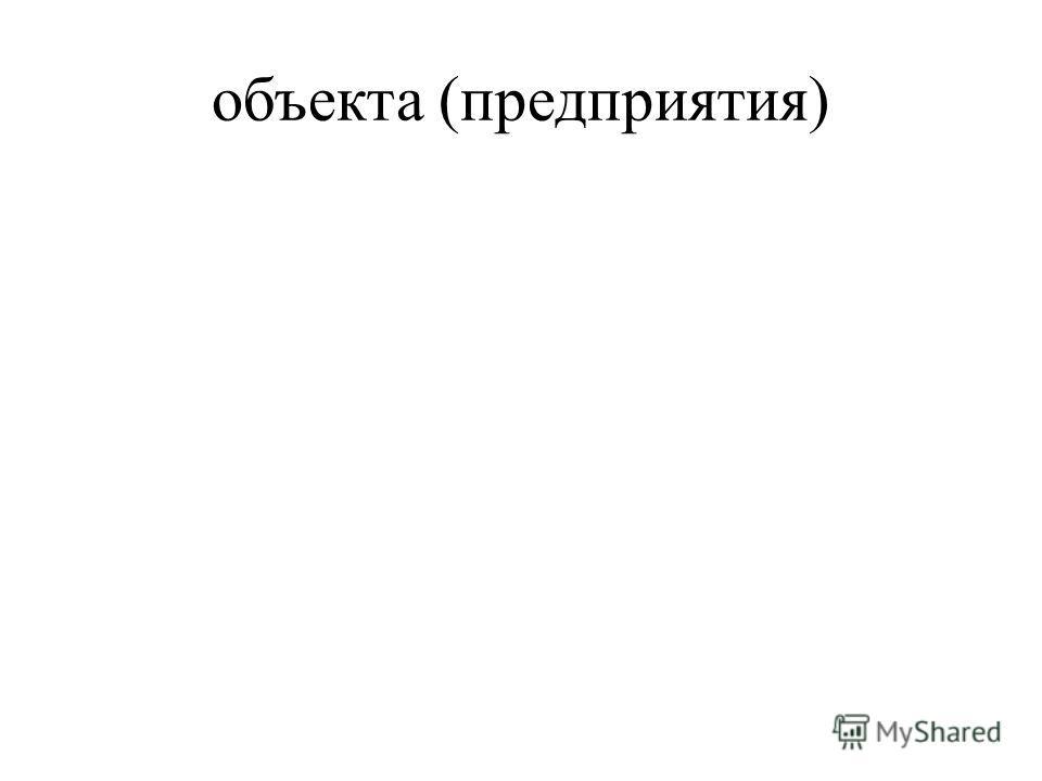 объекта (предприятия)
