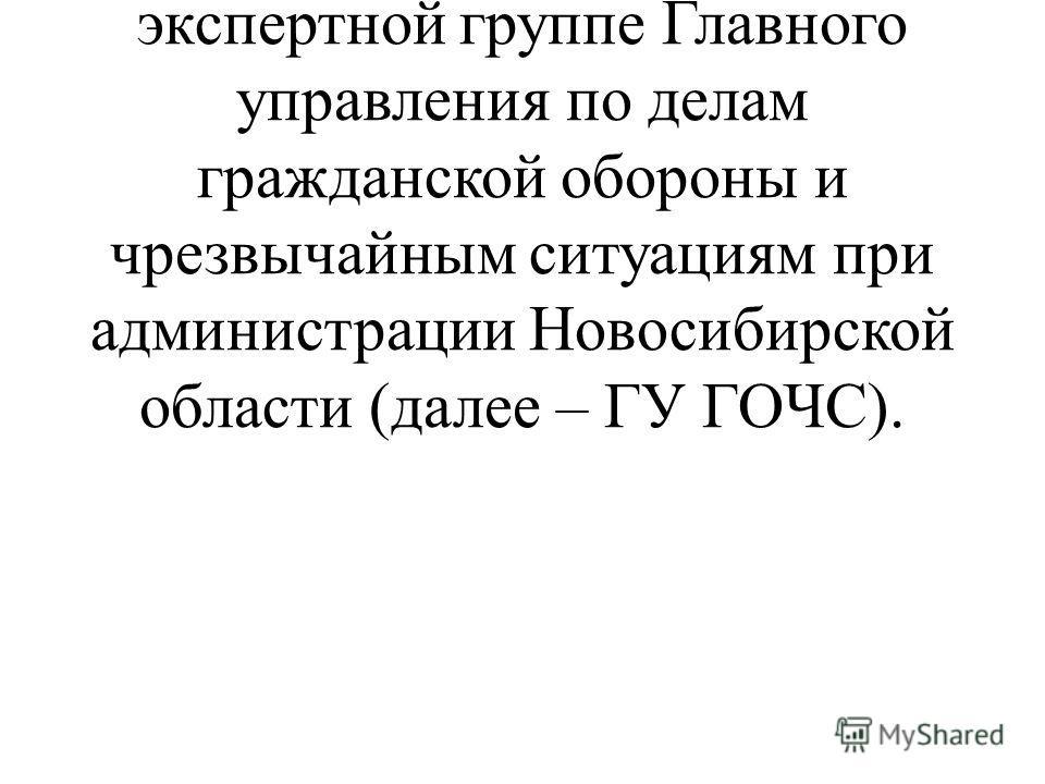 1.8. Паспорт безопасности проходит экспертизу (оформляется заключение) в экспертной группе Главного управления по делам гражданской обороны и чрезвычайным ситуациям при администрации Новосибирской области (далее – ГУ ГОЧС).