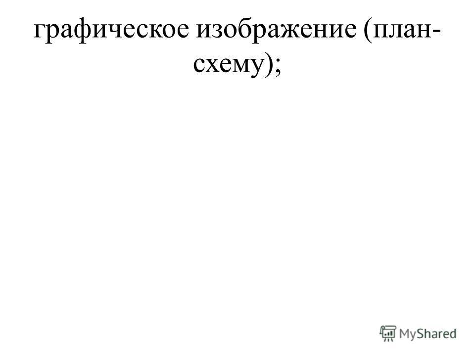 графическое изображение (план- схему);