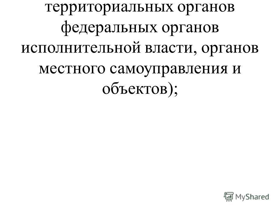 руководители (органов исполнительной власти области, территориальных органов федеральных органов исполнительной власти, органов местного самоуправления и объектов);