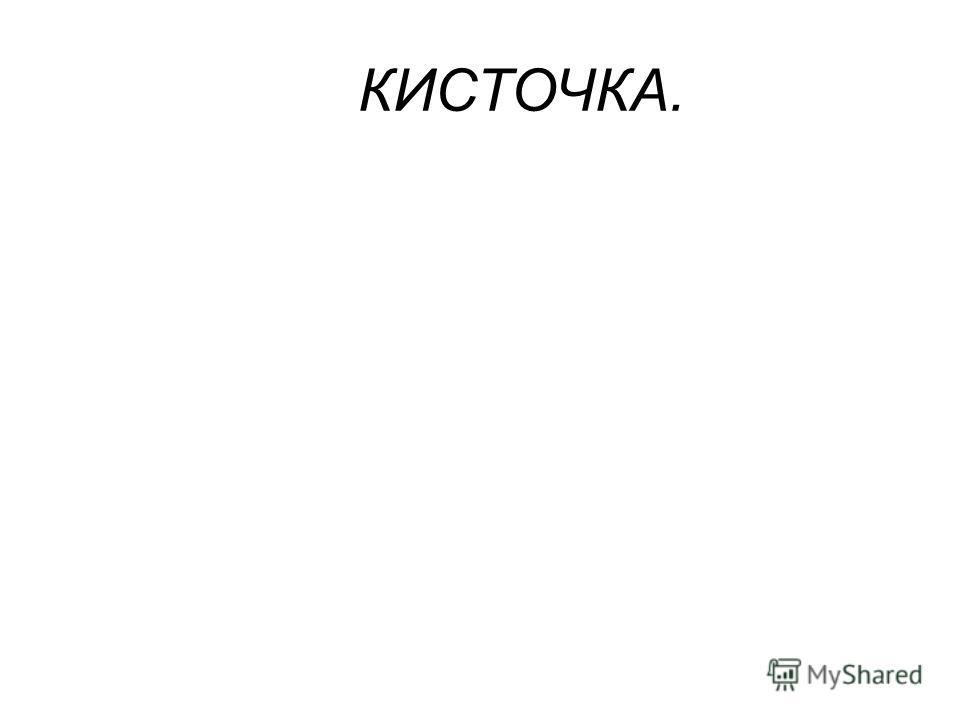 КИСТОЧКА.
