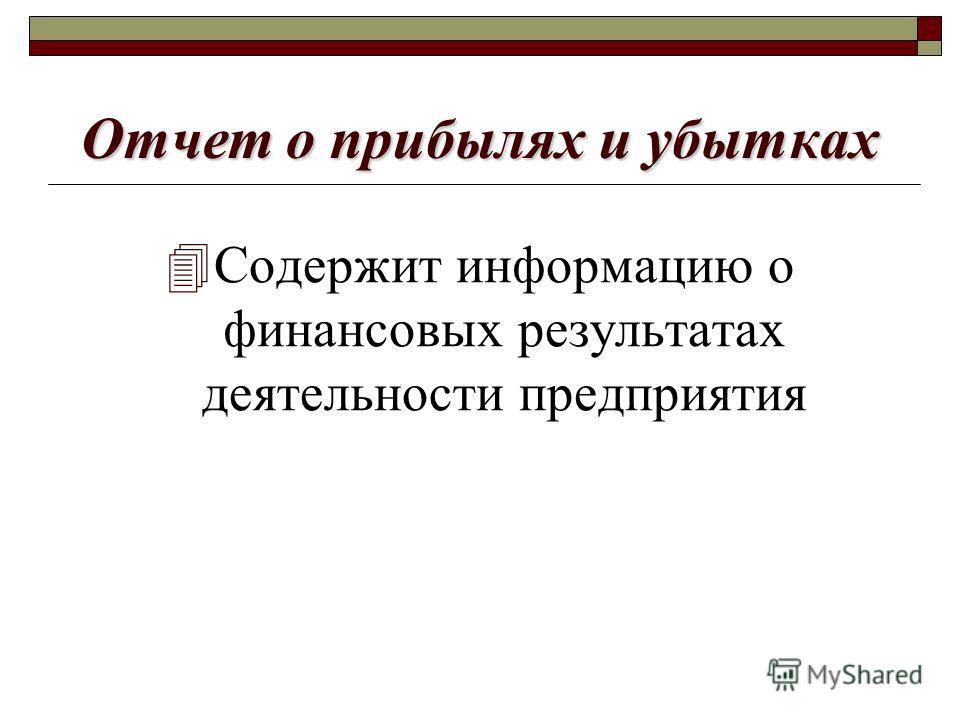 Бухгалтерский баланс 4По состоянию на конкретную дату содержит информацию относительно активов (имущества) предприятия и источников финансирования его деятельности