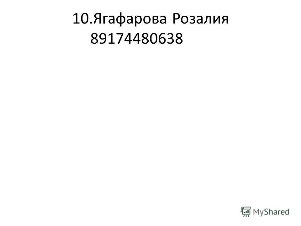 10.Ягафарова Розалия 89174480638