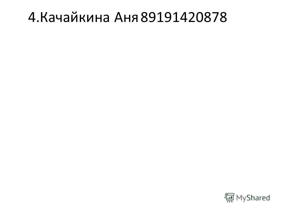 4.Качайкина Аня89191420878