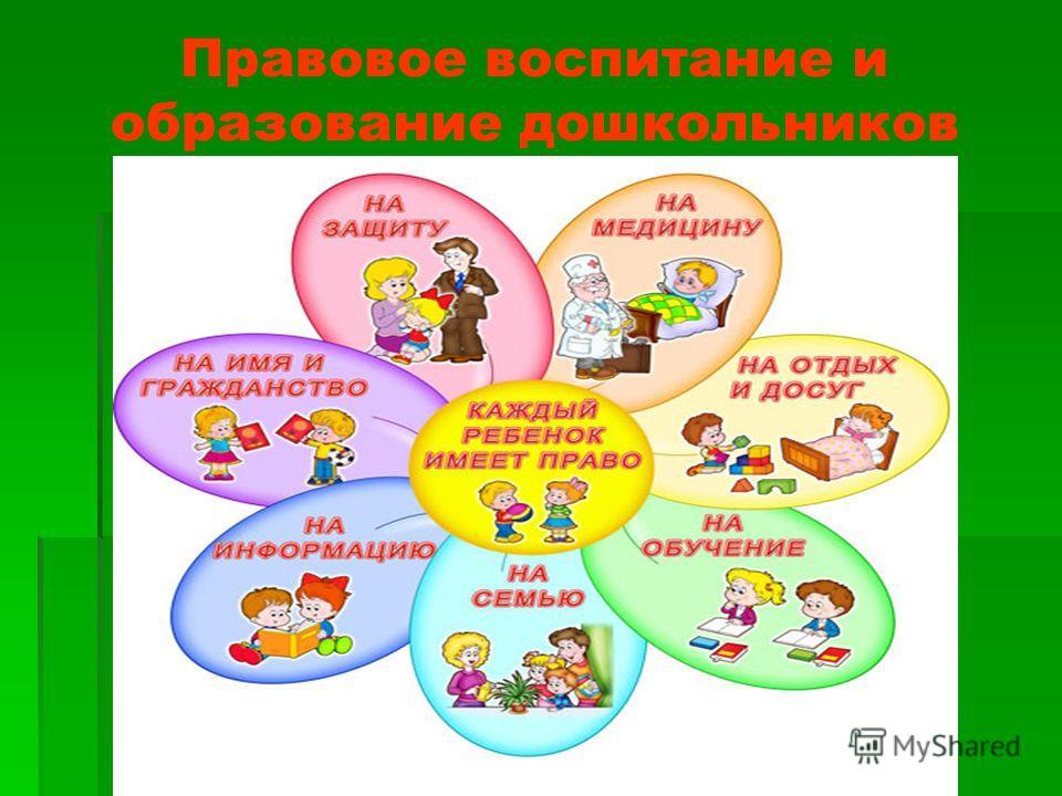 Правовое воспитание и образование дошкольников