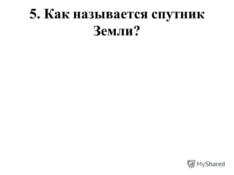 5. Как называется спутник Земли?