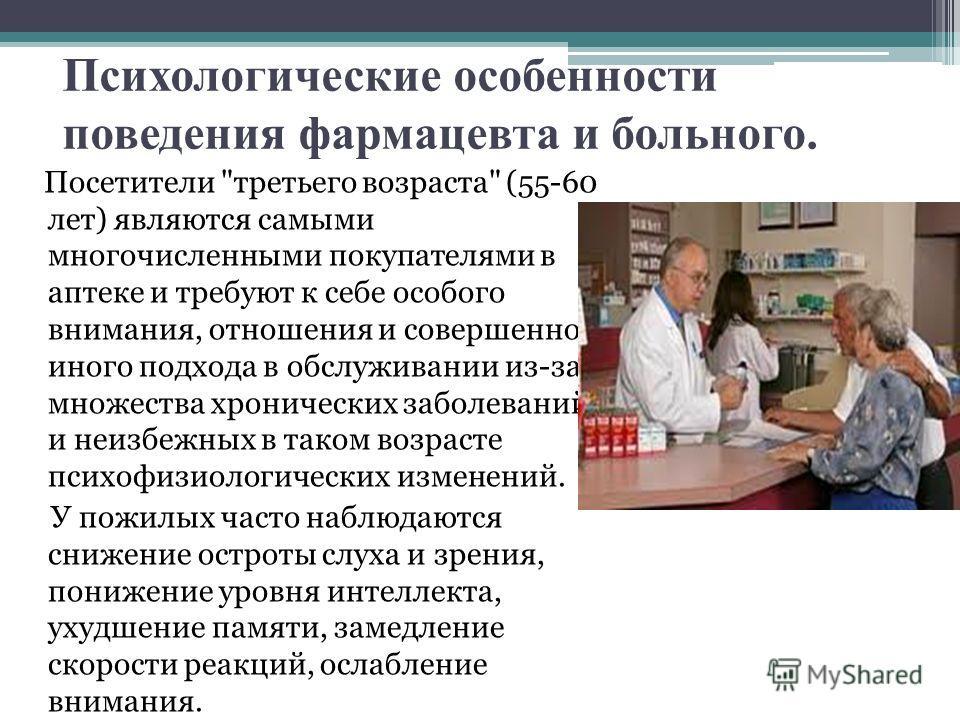 Психологические особенности поведения фармацевта и больного. Посетители