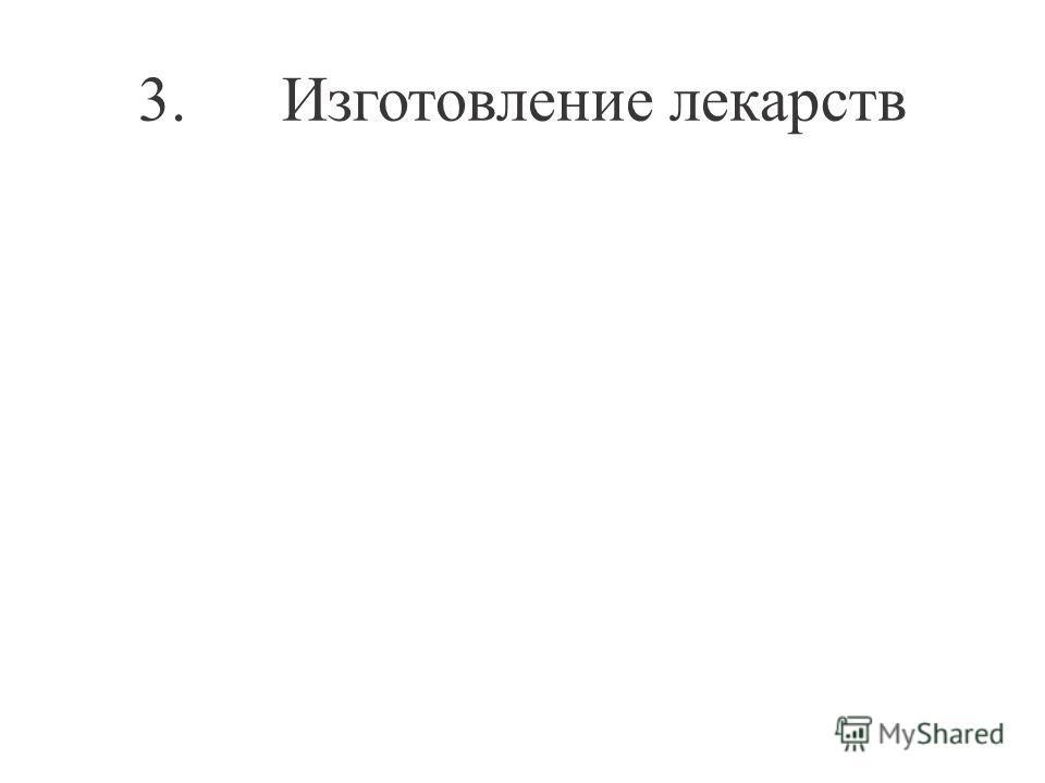 3. Изготовление лекарств