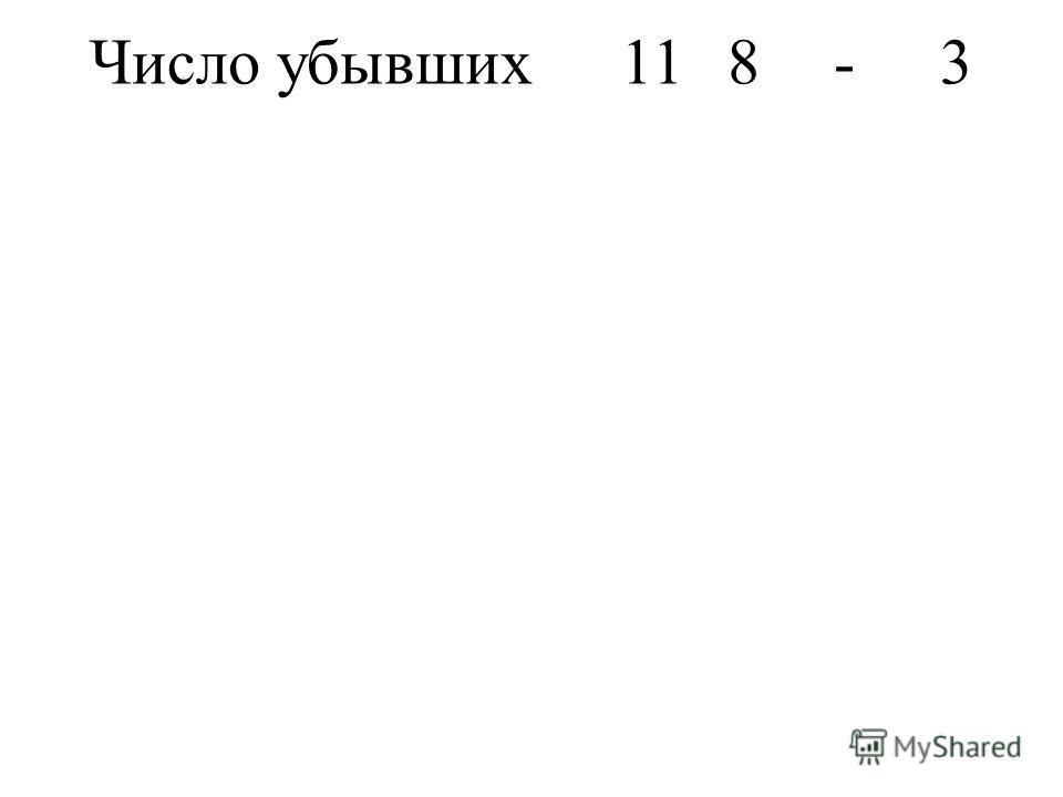 Число убывших118-3