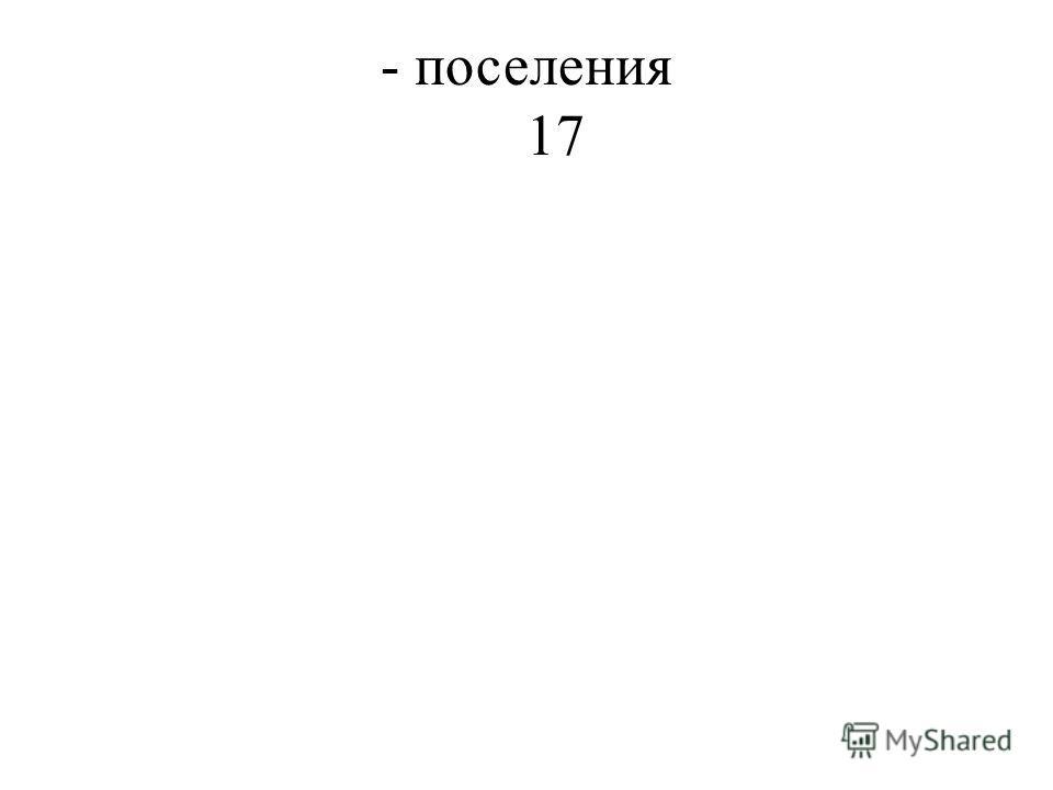 - поселения 17