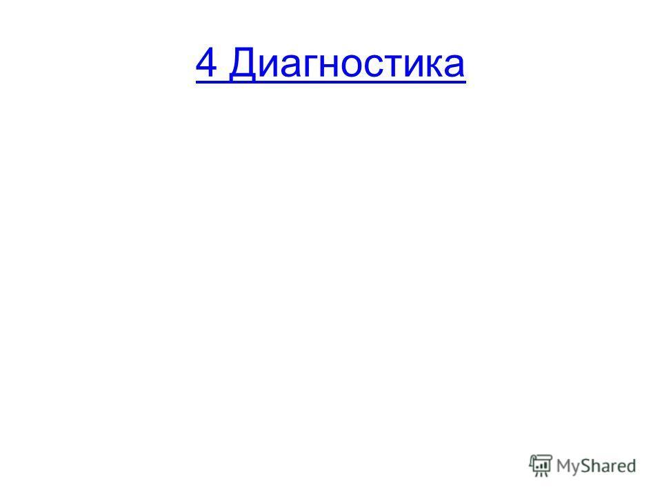 4 Диагностика