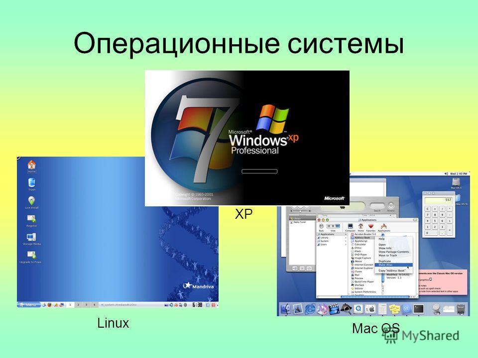 Операционные системы Linux Mac OS XP