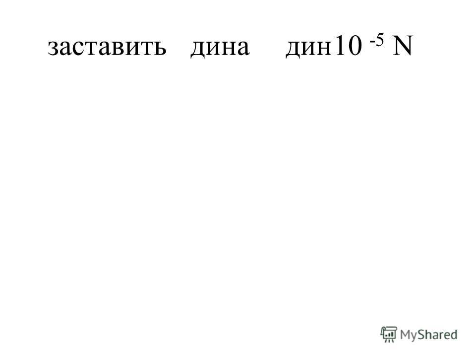 заставитьдинадин10 -5 N