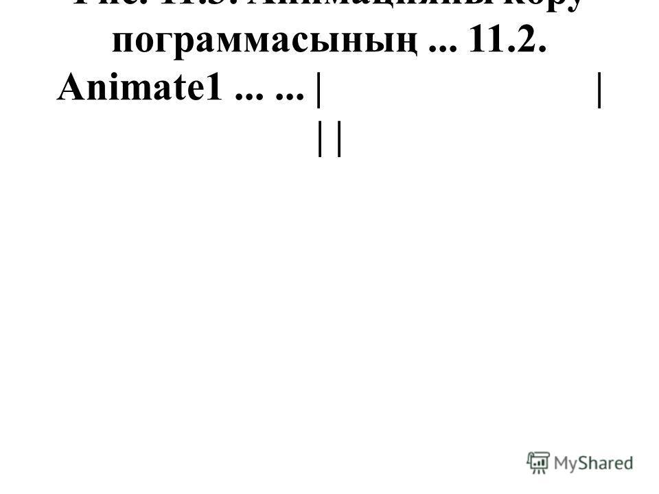 Рис. 11.3. Анимацияны көру пограммасының... 11.2. Animate1...... | | | |
