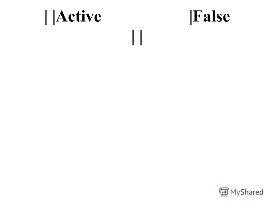 | |Active |False | |