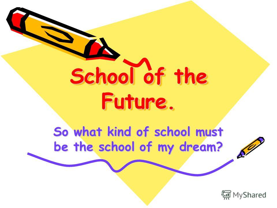 School of the Future. School of the Future. So what kind of school must be the school of my dream?