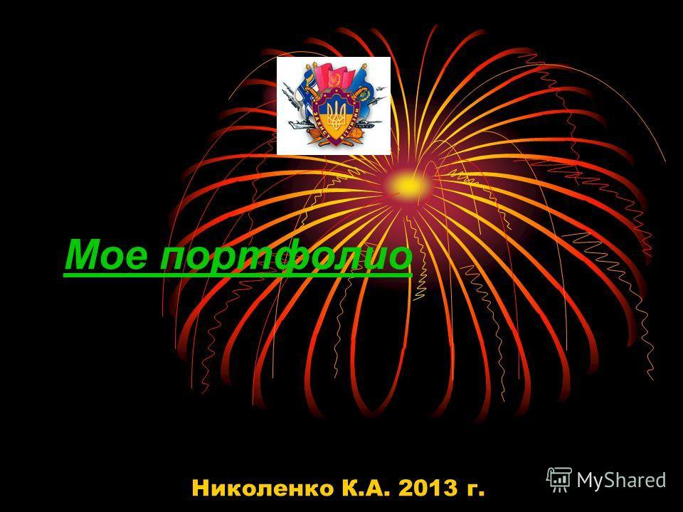 Мое портфолио Николенко К.А. 2013 г.