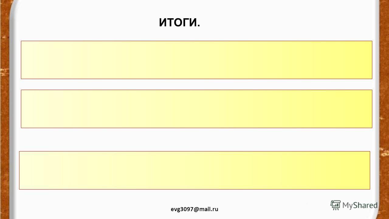 ИТОГИ. evg3097@mail.ru