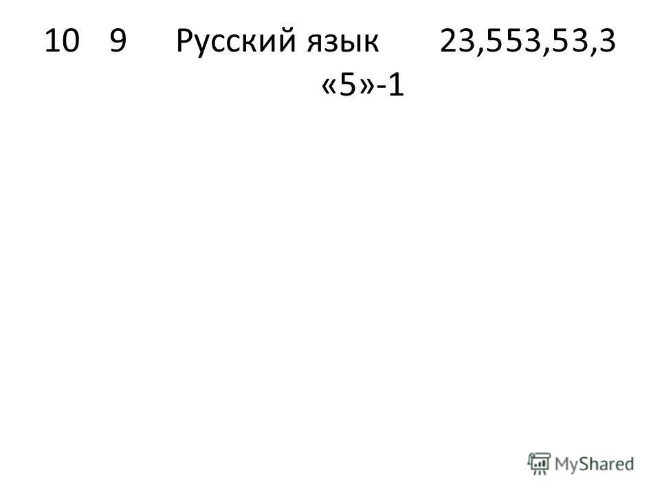 109Русский язык23,553,53,3 «5»-1