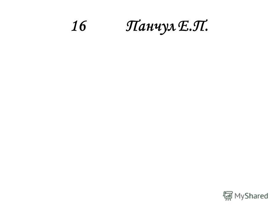 16Панчул Е.П.