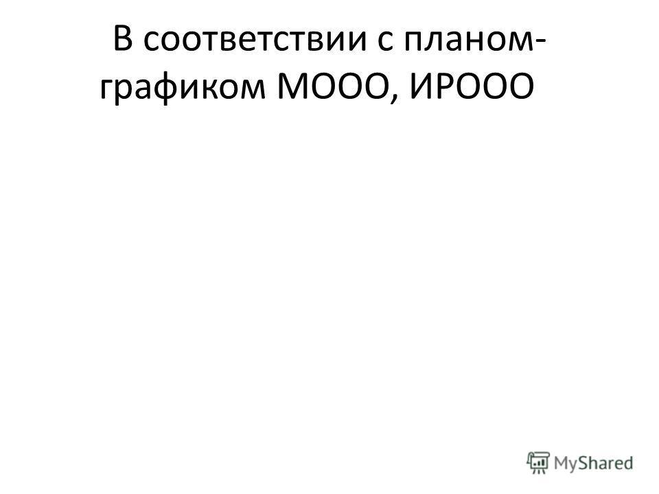 В соответствии с планом- графиком МООО, ИРООО