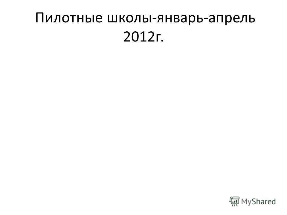 Пилотные школы-январь-апрель 2012г.