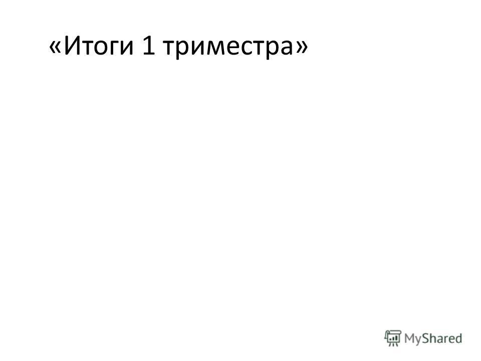«Итоги 1 триместра»