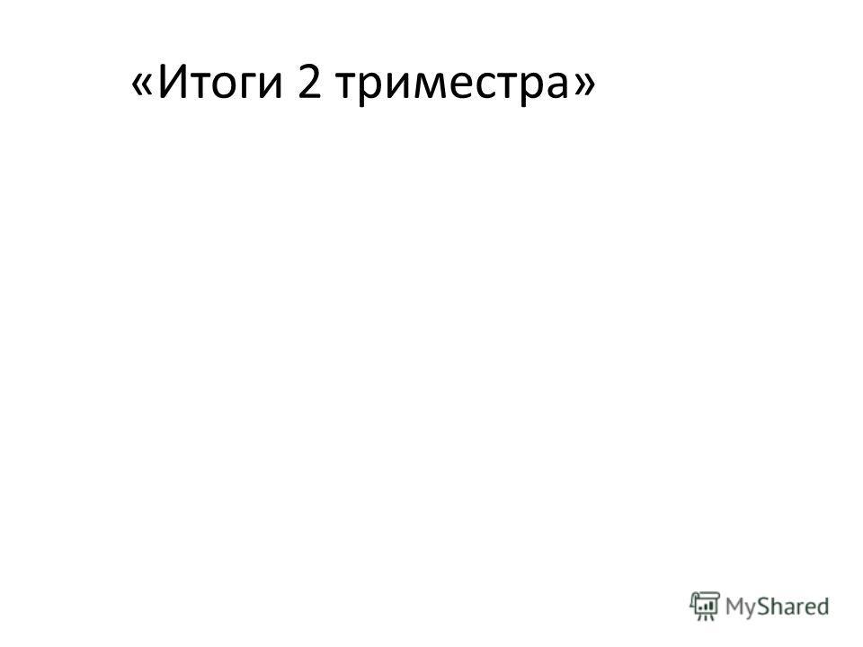 «Итоги 2 триместра»