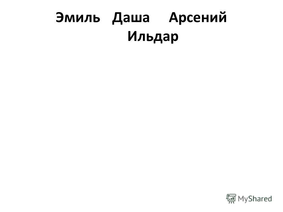ЭмильДаша Арсений Ильдар