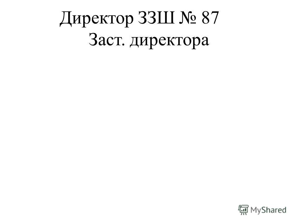 Директор ЗЗШ 87 Заст. директора