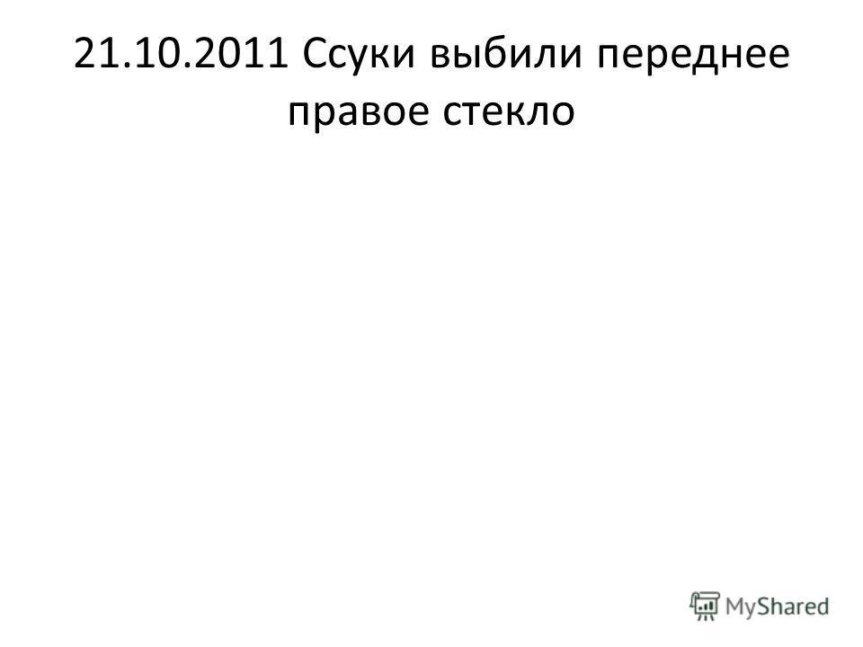 21.10.2011 Ссуки выбили переднее правое стекло
