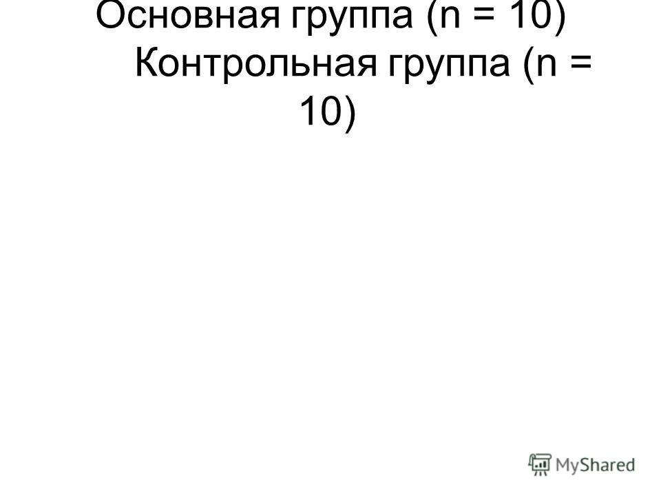 Основная группа (n = 10) Контрольная группа (n = 10)