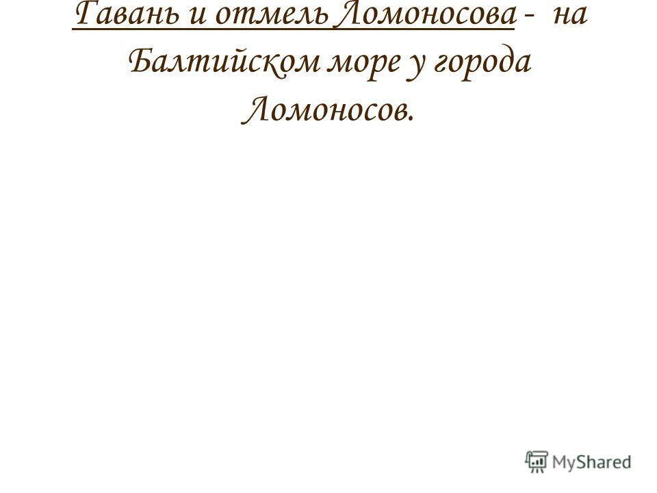 Гавань и отмель Ломоносова - на Балтийском море у города Ломоносов.
