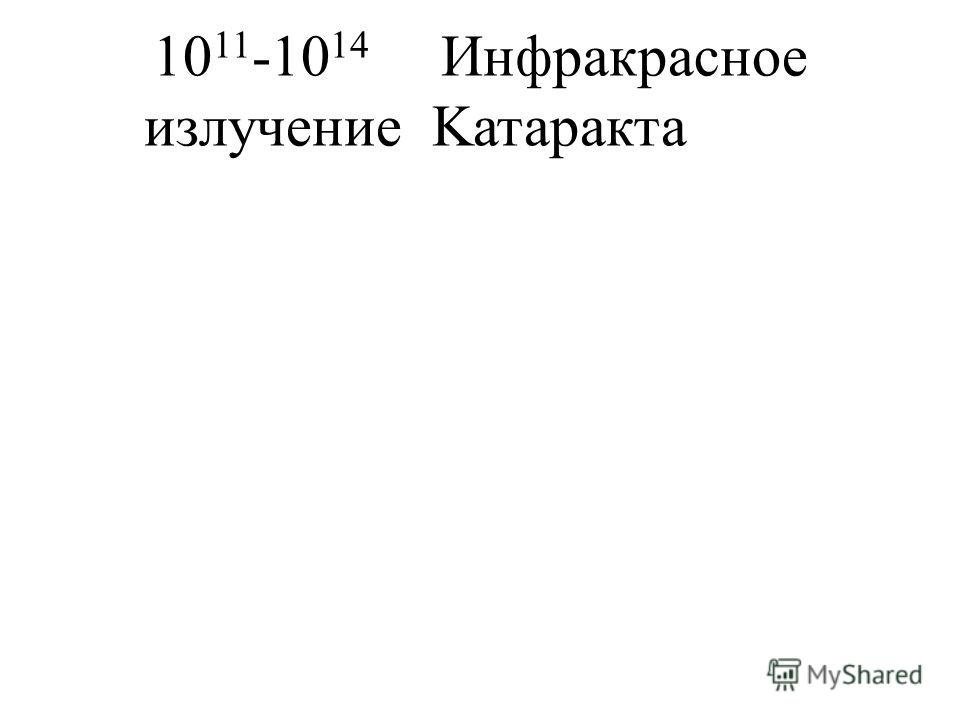 10 11 -10 14 Инфракрасное излучениеKатаракта