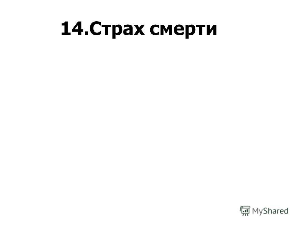 14.Страх смерти