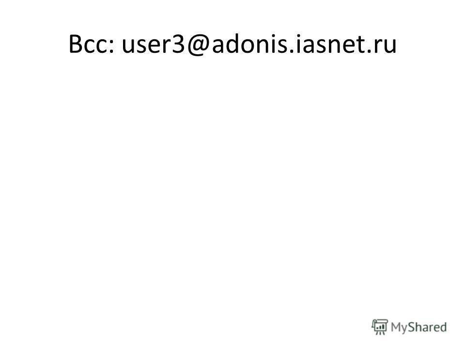 Всс: user3@adonis.iasnet.ru