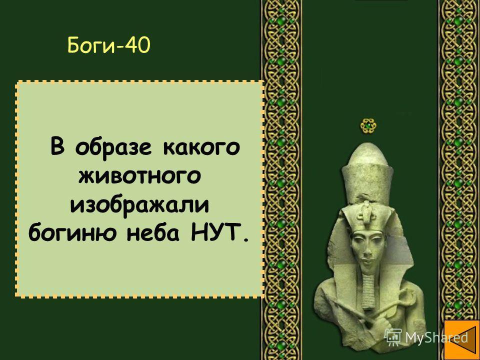 В образе какого животного изображали богиню неба НУТ. Боги-40