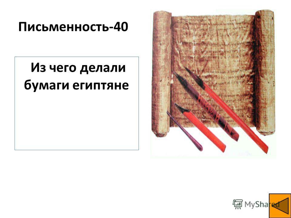 Письменность-40 Из чего делали бумаги египтяне
