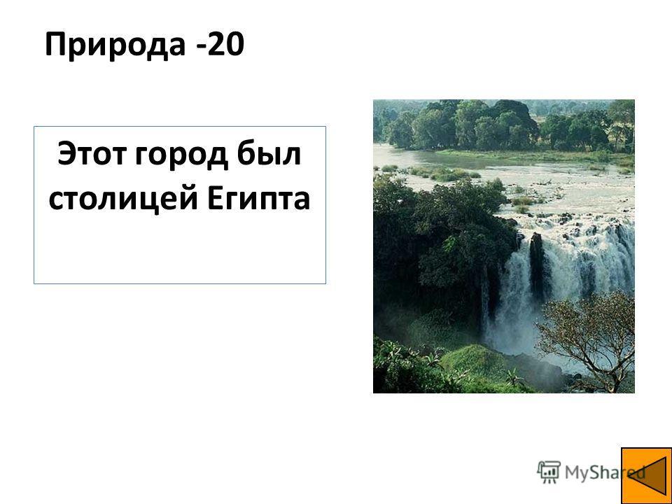 Природа -20 Этот город был столицей Египта